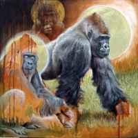Reverence of the Gorillas - Michael Rousseau